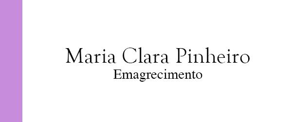 Maria Clara Pinheiro Emagrecimento no Rio de Janeiro